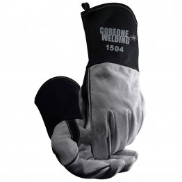 MIG/Stick Welding Gloves Cow Split FR Cotton Cuff COR 1504