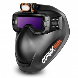 Welding Goggle with Mask and LED. Fitted with 2 arc sensors, the Welding Goggles Provide 5-13 Shade control as well as GRIND mode CORWX1000L